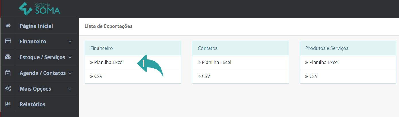Exportando os Dados Cadastrados no Sistema Soma